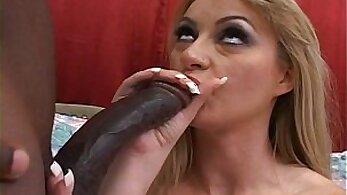 Amazon Girl Takes Two Big Black Cocks