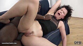 Crazy black monster cock on mature boy penis