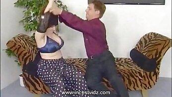 BBW Vanessa Wild hairy rubs her huge boobs