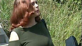 Busty German Redhead Fooling Around
