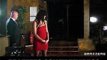 Chunky red headed babe enjoys tugging her dildo