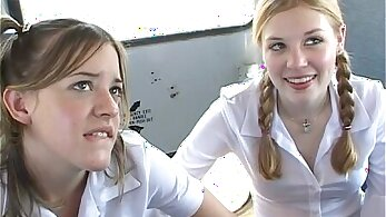 Achy - Schoolgirls Take Turns Blow Jobs And Fucking