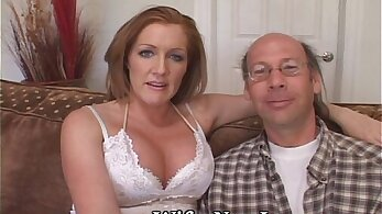 Amateur wife having sex on the bed after camping
