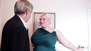 Busty Mature Client Blows A Stranger