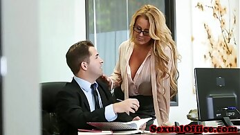 Best boss cums hard in the office and cum on feet