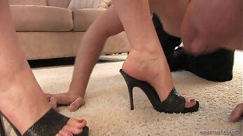 Horny mistresses foot fetish
