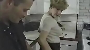 Granny with small tits fucked by a young guy in the kitchen.pw