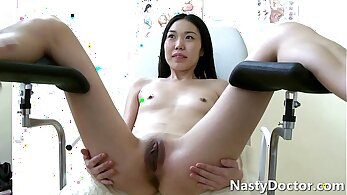 Perverted Asian Teen Fucks Her Pulsating Pussy with her pillow