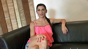 Amature French Swinger Kisses and Teasing
