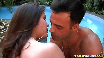 amazing latina in her bikini is fond of a dick in her mouth