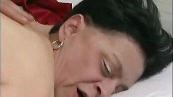 Big Fake Tits Granny In Pink Stockings