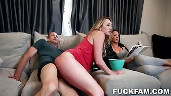Black hair harlot stepdaughter takes a load of sperm all over her face