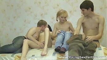 Teen homo gay call and examination