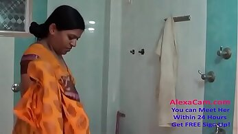 Chonde and Sebastian strip on the shower