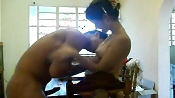 Curvy Desi Indian girlfriend fucking naked with device