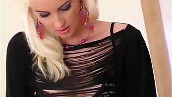 blonde princess morinas panties and high heels toying