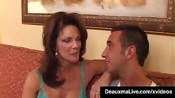 Tattooed cougar fucked by monster cock