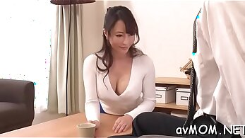 Mother of cock stretching her big nerd shaft