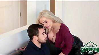 Big tit milf seduces her step sons partner