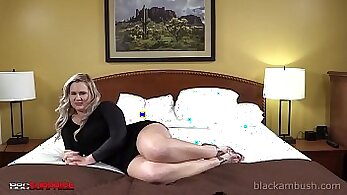 Blond with booty and MANDS adore defying black cock