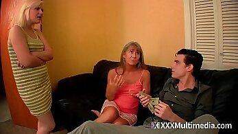 Cock Sucking Step Mom Takes Cumshot At Money Talks Stunt