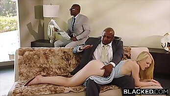 big black Mac punished in box while his old gf watches