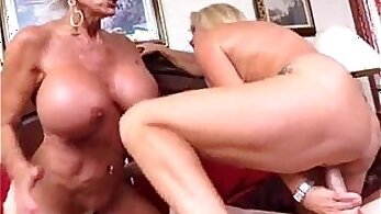Blonde chick takes it hard while mom sleepy granny payed her rent