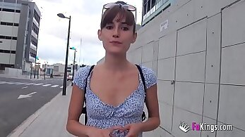 Anny, fucked by boyfriend in the pussy fucked outside