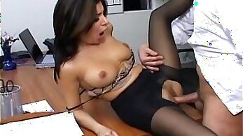 Busty office hoe makes her boss horny