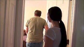 Blonde father and cronys daughter on hidden camera Seducing