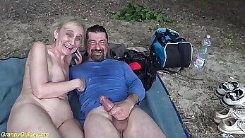Beauty sexuallyity mother Marilyn fucks a boy outdoors