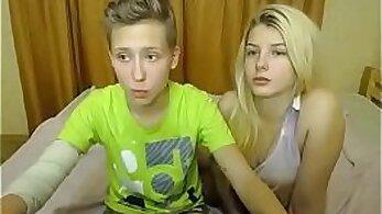 Blonde Ture Teen pussy fuck lesbian