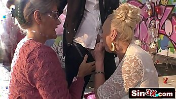 Crazy granny old woman blowjob with her lesbian friends part
