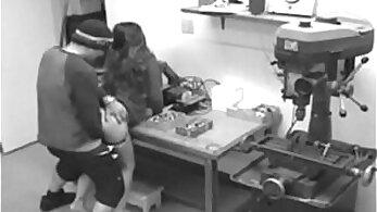 Busty Brunette Rides Monster Cock On Webcam