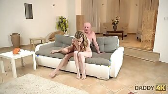 adult daddy helps his mature gf cry on the bed for you