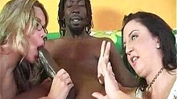 Black babe sucking wifes cock in her easel