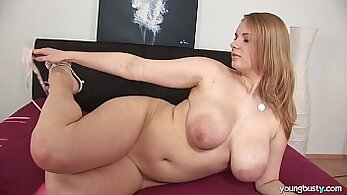 Busty young tgirls play with toys, hot webcam show