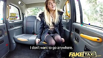 Amazing fake taxi driver fucks big cock guy