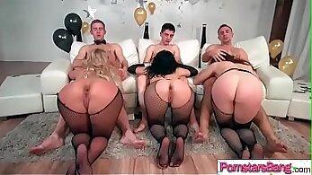 Busty pornstar Chanel Preston eats a juicy cock before fuck