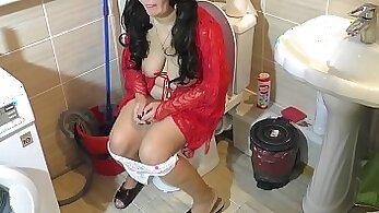 Bodacious redhead mommy riding hard dick and getting joy from autumn